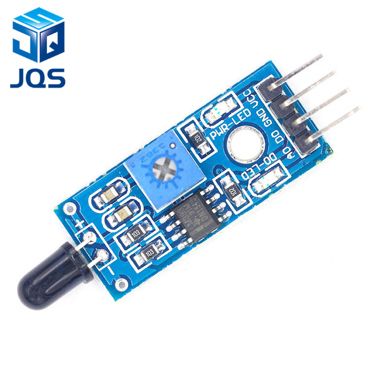IR Infrared 4 Wire Flame Detection Sensor Module IR Flame Sensor Module Detector Smartsense For Arduino