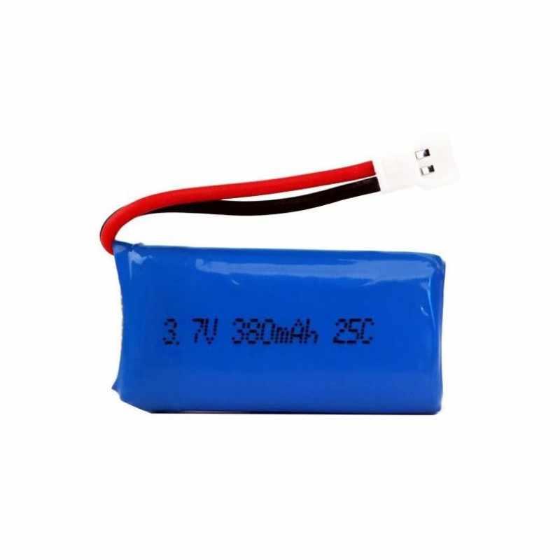 1/2 PCS RC quadrirotor pièces de rechange 3.7 V 380 mah 1 S 25C Lipo batterie avec câble de charge USB