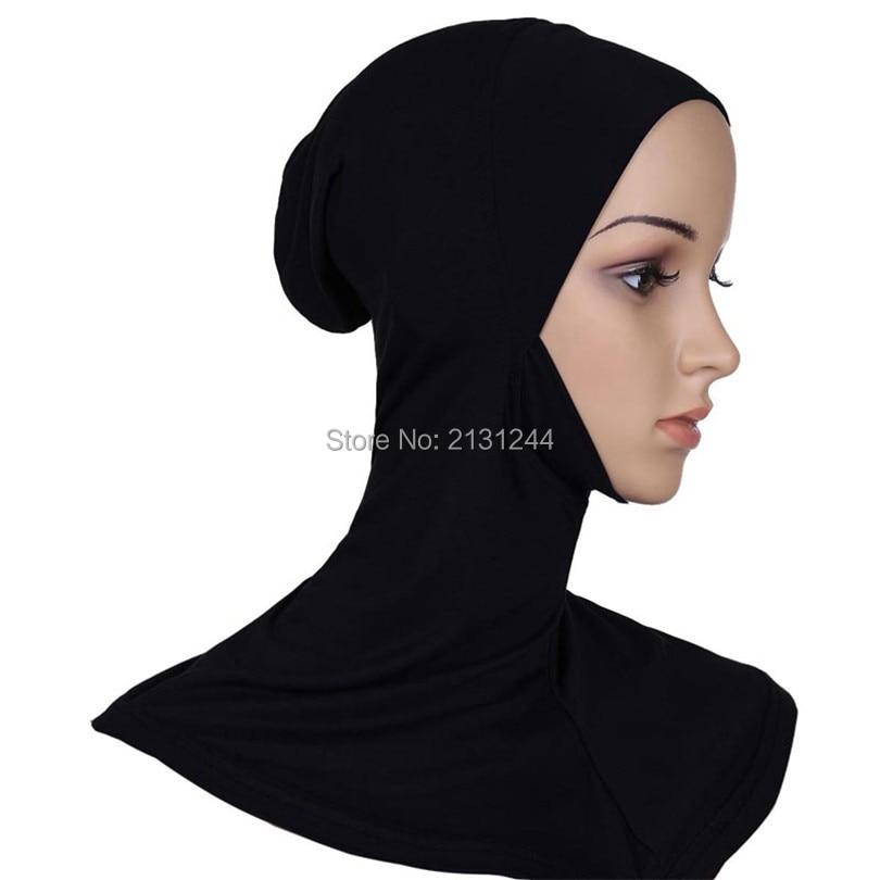 2018 Muslim hijab for women Full Cover Inner Hijab shawl inner cap Underscarf Islamic Neck Head Hat solid cotton