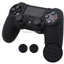 Studded Anti-Slip Rubber Gel Protective Silicone Case Skin Grip Cover For Sony Playstation 4 PS4 Controller Wireless slim pro стоимость