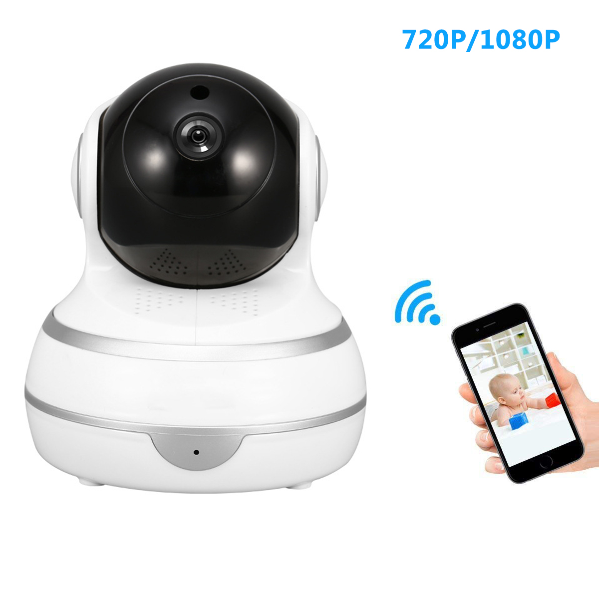 SOONHUA 720P/1080P HD Home Security IP Camera Wireless Night Vision Surveillance Camera With HD Mic For Pet Baby MonitorSOONHUA 720P/1080P HD Home Security IP Camera Wireless Night Vision Surveillance Camera With HD Mic For Pet Baby Monitor