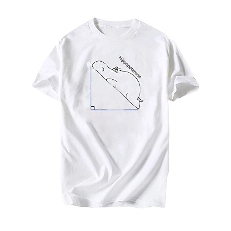 Mens T Shirts Fashion 2018 T Shirt Tops Tshirt HIPPOPOTENUSE T-shirt Men Casual Basic Cotton T-shirt Plus Size Boys Gift XS-3XL