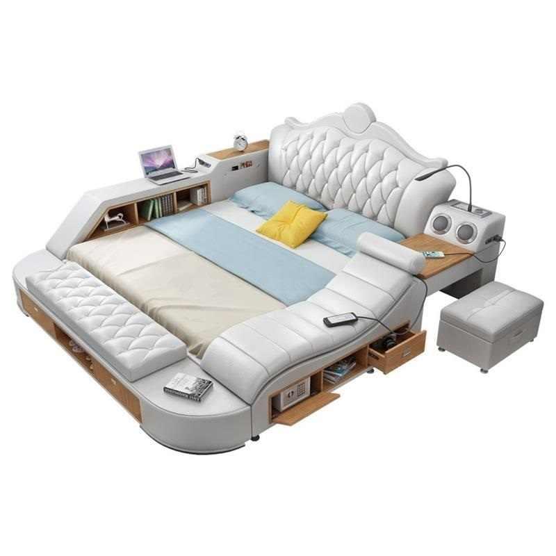 Kids Set Quarto Letto Literas Matrimonio Meuble Maison Home Leather Moderna Mueble De Dormitorio Cama bedroom Furniture Bed