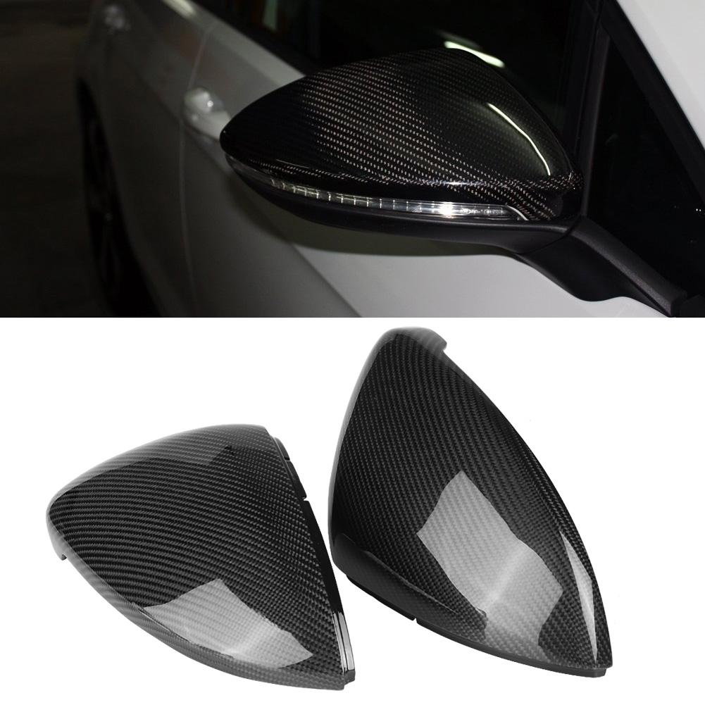 1 Pair Carbon Fiber Car Rearview Mirror Cover Replacement for VW Golf MK7 GTIR 2013 2014