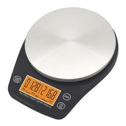 Cyfrowa skala kroplówki z zegarem 0.1-3000G V60 kawa kuchenna podkładka skala ekspres do kawy narzędzie baristów nowość