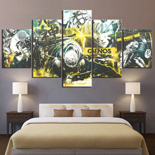 Home Decor Modular Canvas Painting Picture 5 Piece One Punch Man Genos Anime Poster Wall For Wholesale