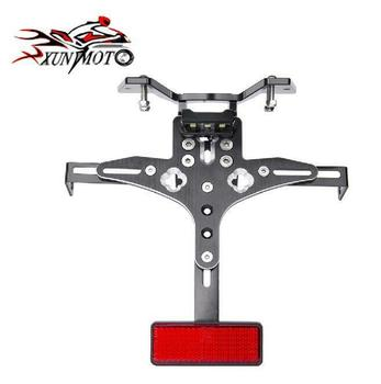 Motorcycle Parts Frame Rear Adjustable License Plate Mount Holder Bracket Lamp For 2005 2006 2007 2008 SUZUKI GSXR1000 GSXR 1000