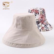 joejerry Printed Floral Fisherman Bucket Hat Summer Women Wide Brim Fishing Sun Hats uv Protection Basin Cap Foldable