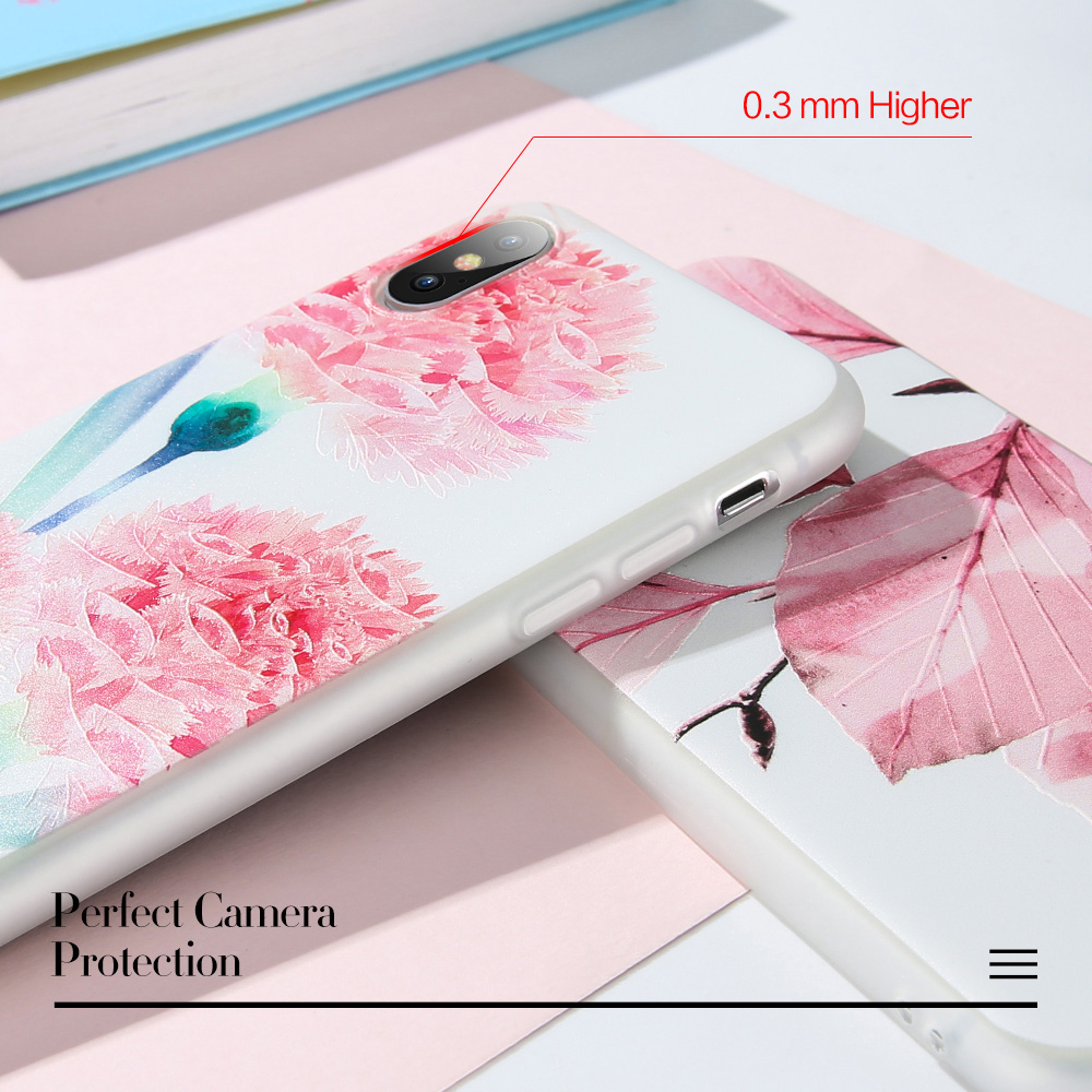 CASEIER Embossed Phone Case For Huawei P20 Mate 20 10 Lite Pro Flowers TPU Mobile Phone Case For Huawei Mate 9 10 Pro Nova 2 in Fitted Cases from Cellphones Telecommunications