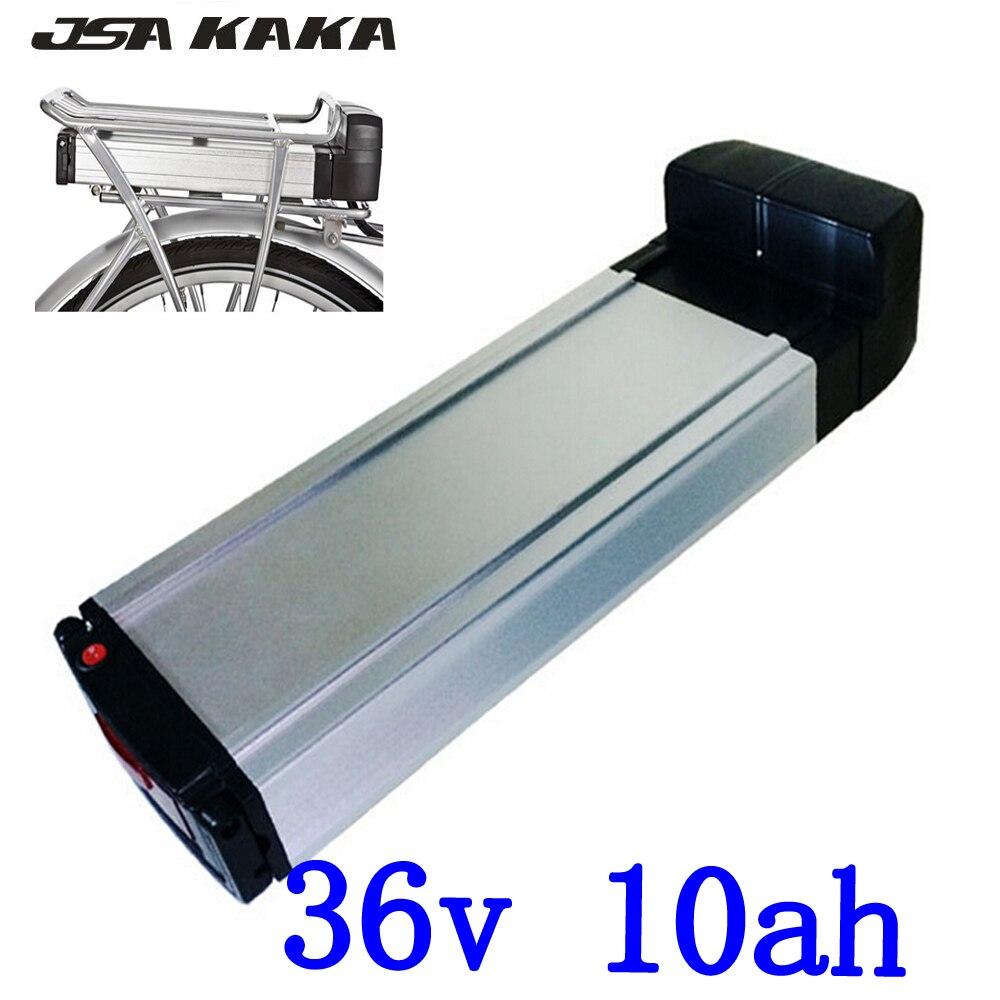 36 V arrière rack style ebike batterie 36 V 10AH lithium ion batterie 36 V 10AH électrique vélo batterie avec feu arrière + 42 V 2A chargeur