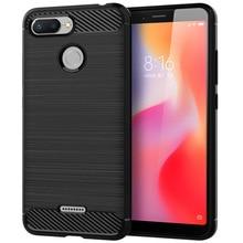 10pcs Phone cases for xiaomi redmi 6 case silicone carbon fiber Drop-Resistant Soft tpu cover shockproof euti funda conque tok