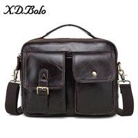 X. D. BOLO 2019 модная сумка мужская сумка через плечо из натуральной яловой кожи сумки на плечо для мужчин кожаная сумка
