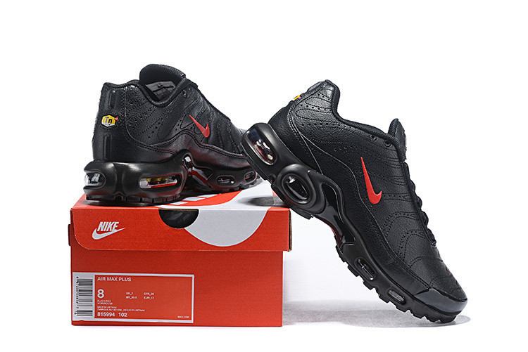e7808fa81537 NIKE Air Max Plus TN Se Retro Prm Leather Material Men s Running Shoes