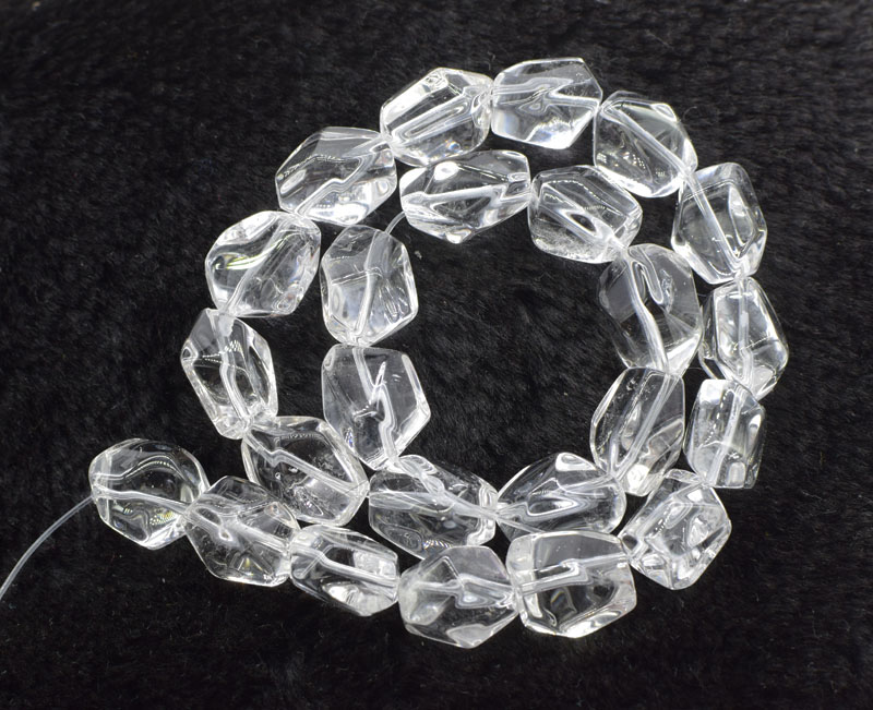 Loose Beads  White Crystal Baroque Faceted 15-25mm 15