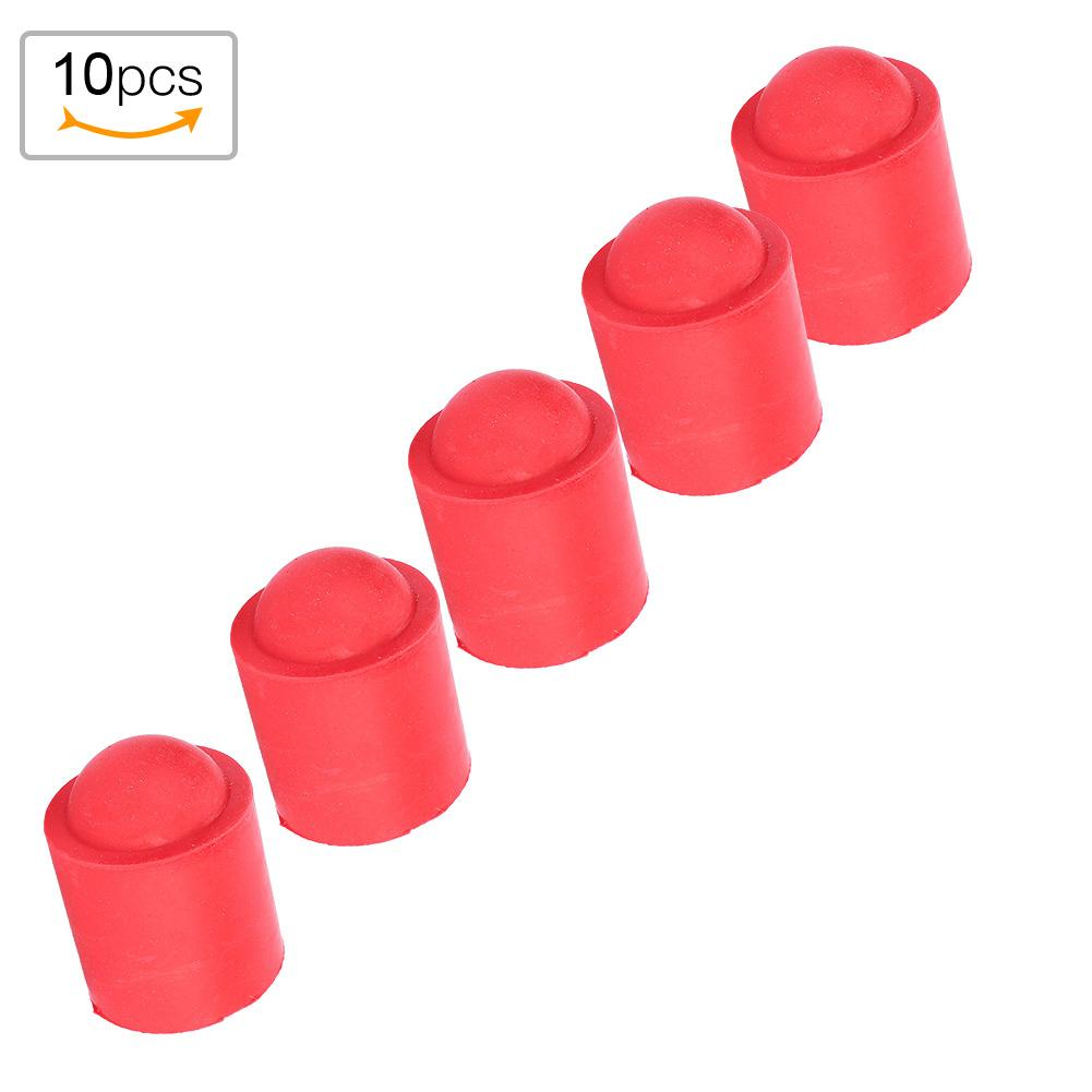 Alomejor Pool Cue Cap 10pcs Pool Cue Tip Rubber Cover Billiards Cues Stick Protection Cap for Snooker Cue Tip Pool Billiards Accessories