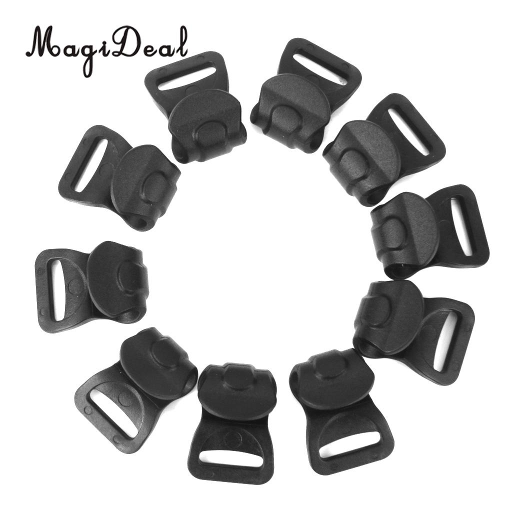 MagiDeal High Strength 10pcs Black Plastic Camping Awning Tent C Clips for 7mm-10mm Poles Outdoor Hiking Hooks Accessories image