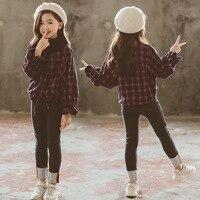 Girls Set Autumn Bell Sleeve Trousers Children Two Piece Children's Clothing