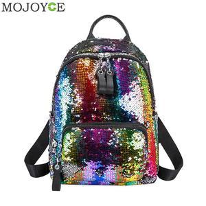 Glitter Vrouwen Pailletten Rugzak Mode Hoge Kwaliteit Reizen Schoudertassen Shiny Schooltassen Voor Tienermeisjes 2020 Nieuwe Rugzak(China)