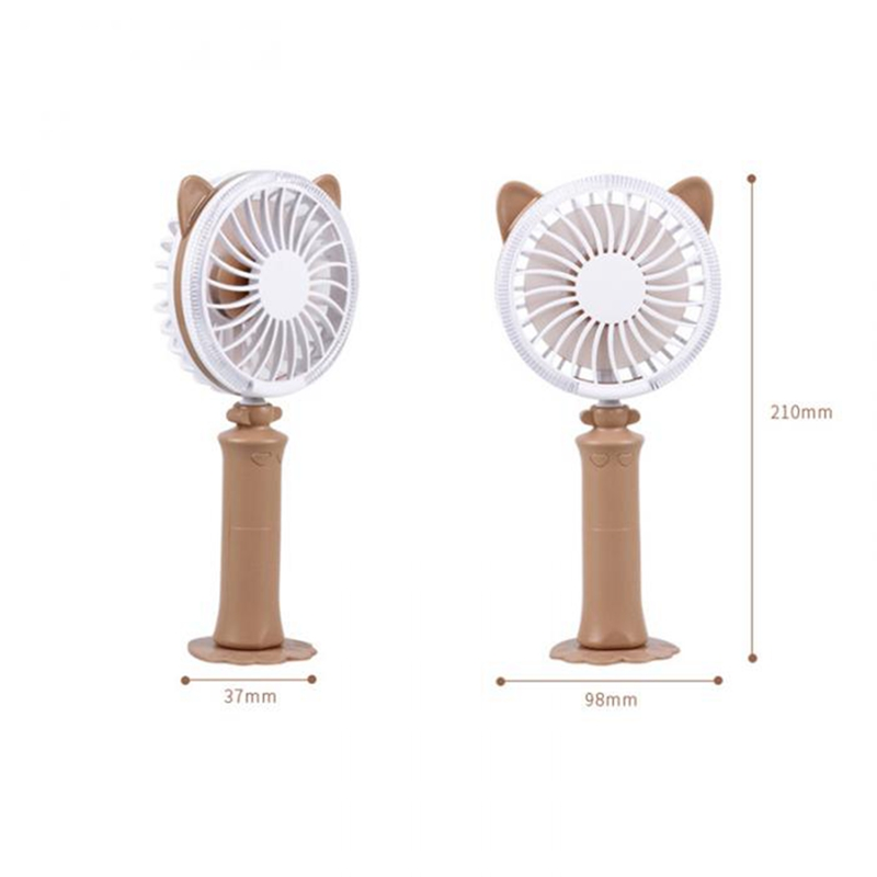 Colorful Mini Usb Night Light Rechargeable Air Cooling Fan Desk Cat Shape Fan Travel Home Student Dormitory Portable Desktop O in Fans from Home Appliances