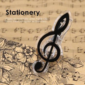Music Score Book Clip Plastic Musical Note Letter Paper Sheet Spring Holder Folder for Piano Guitar Violin Performance Score image