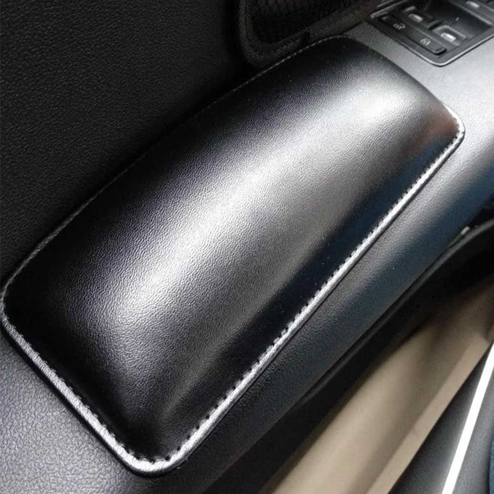 Car Cushion Interior Pillow Knee Pad Car Seat Soft Cushion Leather Universal Thigh Support Accessories