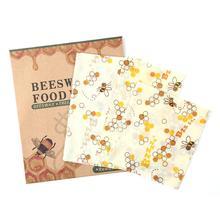 3 шт./компл. многоразовые силиконовые Обёрточная бумага печать Еда свежие Обёрточная бумага крышка стрейч вакуумный Еда Обёрточная бумага пчелиный воск ткань Кухня аксессуар