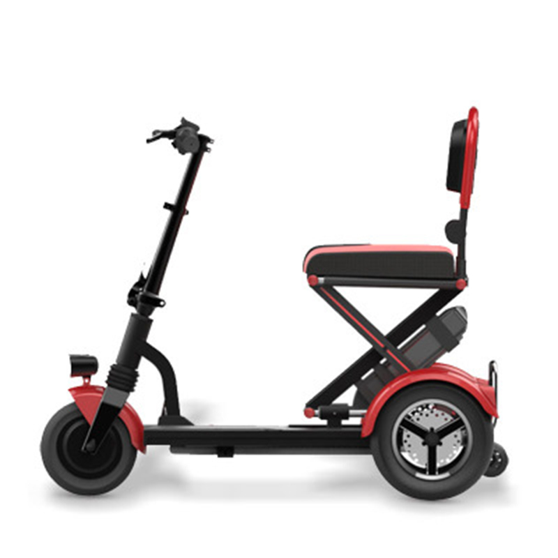 2018 Folding Electric Vehicle Elderly Scooter Electric Tricycle Disabled Bicycle Lithium Battery