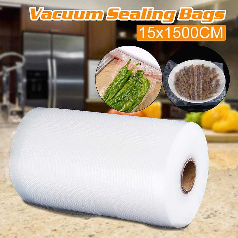 6 x 50 Rolls Kitchen Food Vacuum Bag Storage Bags For Vacuum Sealer Food Fresh Long Keeping 15x1500cm6 x 50 Rolls Kitchen Food Vacuum Bag Storage Bags For Vacuum Sealer Food Fresh Long Keeping 15x1500cm