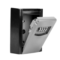 Защитный замок коробка из алюминиевого сплава пароль ключ коробка 4 цифры код экономия коробка водостойкие домашние няни магазин ценных ве...
