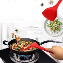 1 шт. силиконовая лопата с полным покрытием из нержавеющей стали, кухонная лопатка с антипригарным покрытием, высокотемпературная лопатка, кухонная посуда