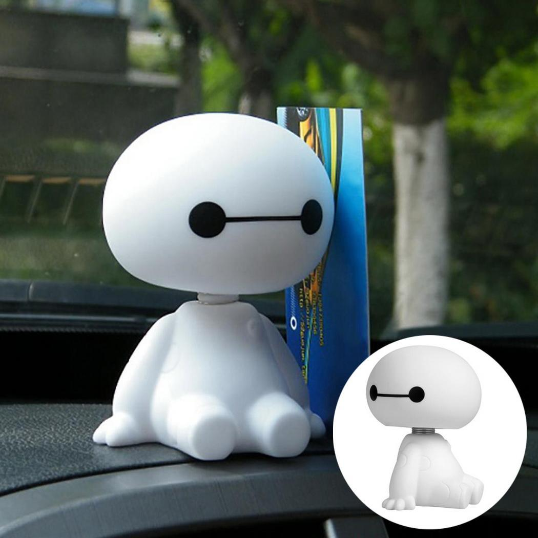 Automobiles & Motorcycles The Best Cartoon Plastic Car Interior Robot Bobble Head Shaking Head Auto Toys Big Hero Baymax Car Decoration Doll Ornament Car-styling Various Styles Interior Accessories