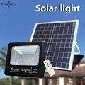 Светодиодный прожектор  перезаряжаемый на солнечной батарее  100 Вт  точечный светильник  садовый светильник  уличный прожектор  настенный с...