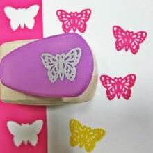 5cm 나비 크기 펀치 대형 공예 장식 구멍 펀치 아름다운 펀치 손 금속 기계 펀치 종이 카드 도구