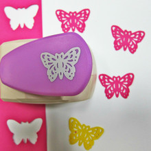 Poinçons de trou décoratif artisanal de 5cm, grand poinçon de taille papillon, beau poinçon Machine à main en métal, outil de poinçonnage de cartes en papier