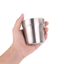 Outdoor 304 Stainless Steel Drinking Coffee Tea Mug Pots Camping Cup Picnic Portable Water Cover Tableware