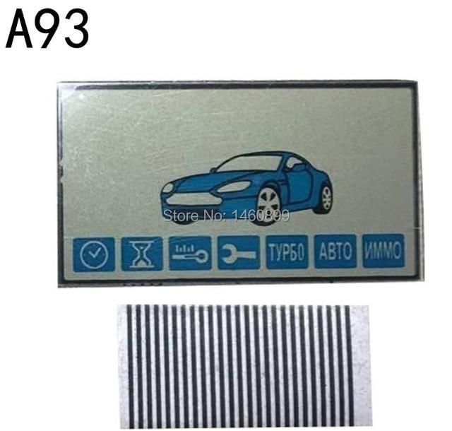 Оптовая продажа A93 брелок ЖК-дисплей Экран дисплея для Starline A93 ЖК-дисплей пульт дистанционного управления брелок для ключей брелок