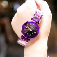 Hot Sale 5-colors Delicate Diamond Quartz Watch for Women Simple Fashion Top Quality Waterproof Steel Wrist Strap