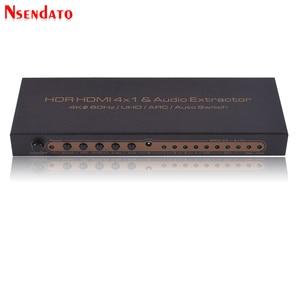 Image 3 - 4K * 2K HDR HDMI Matrix 4X1 4k HDMI Switch dağıtıcı ses Extractor DTS Dolby ark SPDIF 4 1 Out HDMI dönüştürücü PS3/PS4