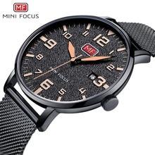 MINI FOCUS Wristwatch Mens Watches Quartz Fashion Thin Clock Men Watches 2019 Luxury Brand Stainless Steel Watch Strap Calendar цена