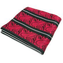 JH08 мужской, карманный, квадратный Пейсли полосы Черный, красный, белый цвета свадебный комплект с носовым платком бренда