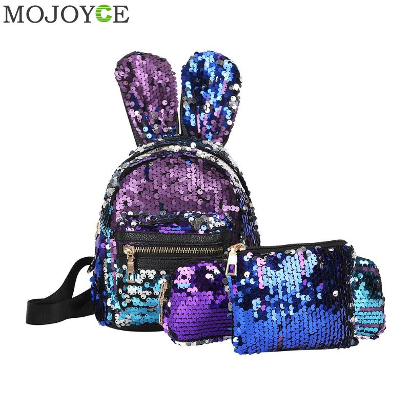 25327db7a8 🛒 [HOT DEAL] | Sequins Backpack School Bags for Teenage Girls Lady ...