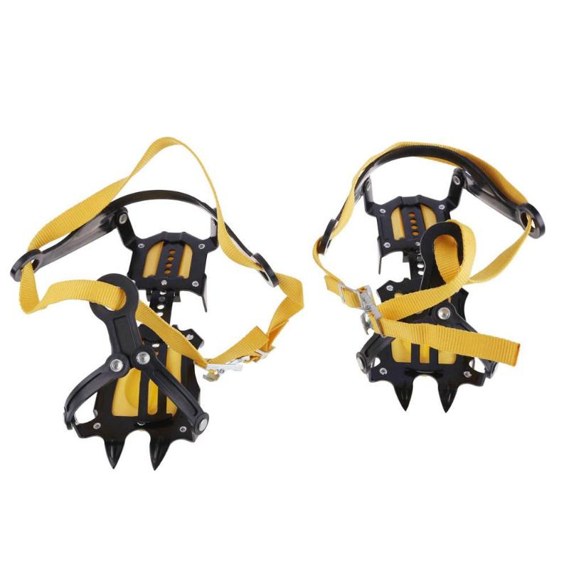 10 Studs Outdoor Climbing Antiskid Crampons Winter Walk Ice Fishing Snowshoes Manganese Steel Slip Shoe Covers