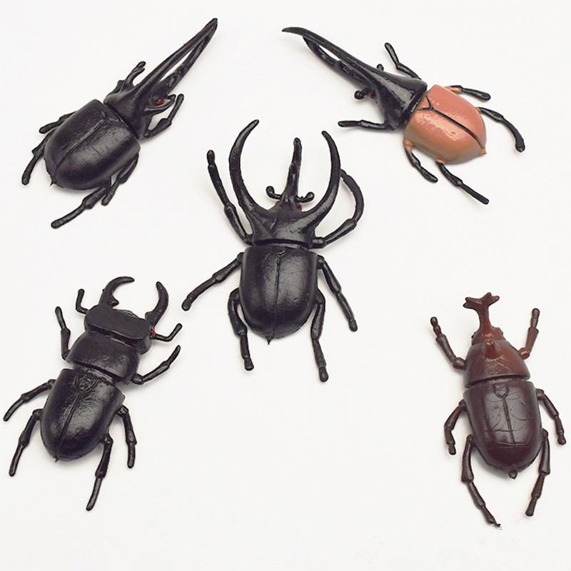10pcs/lot 5.5cm Simulation Beetle Toys Special Lifelike Model Simulation Insect Toy Nursery Teaching Aids Joke Toys
