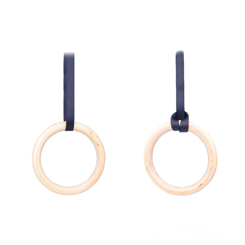 Us 2646 48 Off1 Pair New Wooden 28mm Exercise Fitness Gymnastic Rings Gym Exercise Crossfit Pull Ups Muscle Ups Sports Gymnastic Rings In