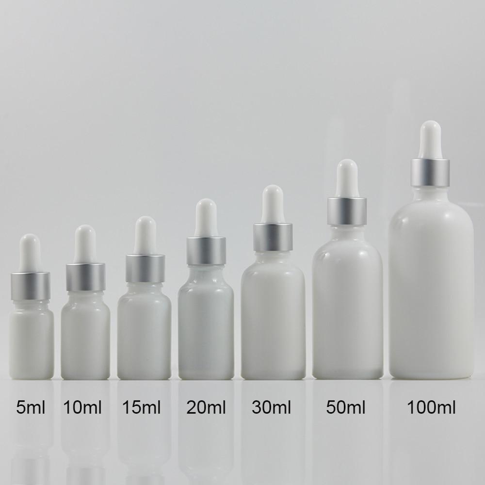 atacado 50 pcs 50 ml branco rodada em forma de frasco conta gotas recipiente conta gotas