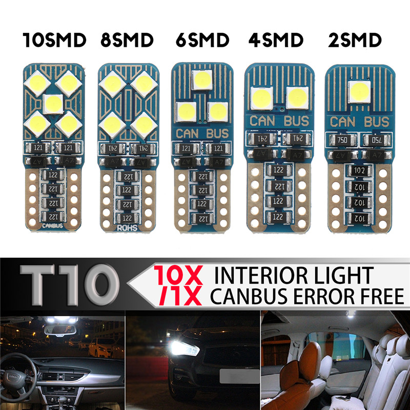 1PCS 2/4/6/8/10SMD 3030 Super Bright 100-500LM LED Car Backup Reserve Lights Bulb Tail Lamp Turn Signal light