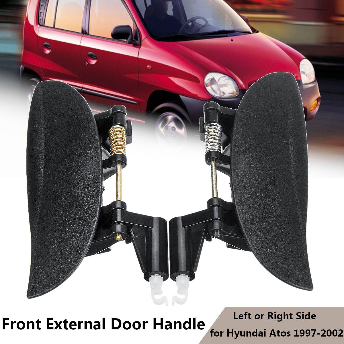 New Outside Door Handle Smooth Black Front Left Exterior FL Driver Side LH