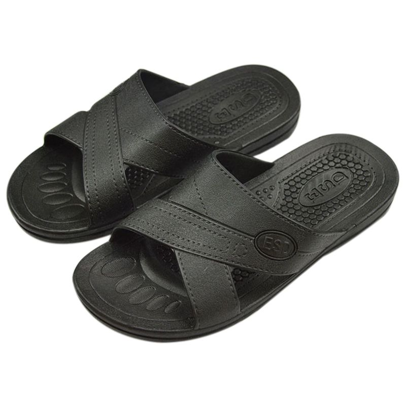 Anti-static Slippers Clean Dust-free Protective Slippers, Men And Women Clean Working Shoes Soft Bottom Black