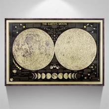 Полный лунное затмение Ретро Луна крафт-бумага плакат дома и кухни кафе декоративная живопись подарки Домашний и домашний декор