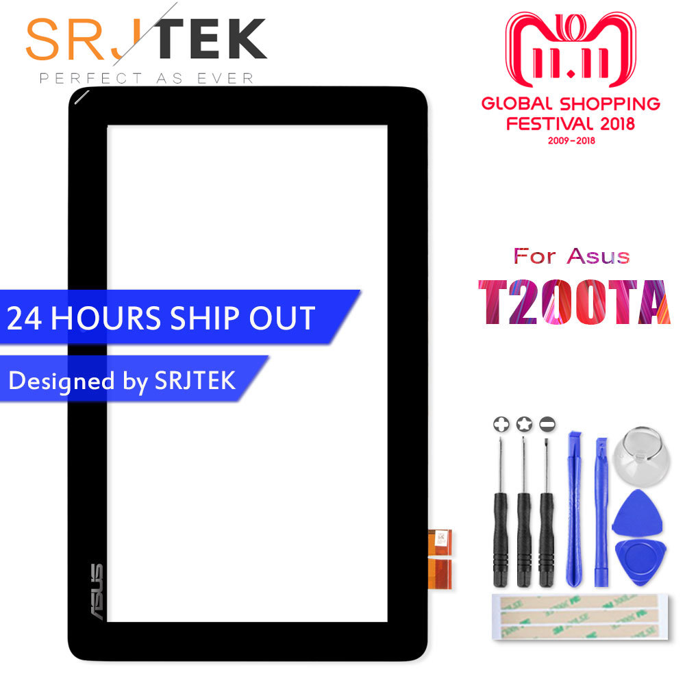 11.6 Touch Screen For Asus Transformer Book T200TA T200 Touchscreen Panel Digitizer Sensor Tablet PC Replacement Parts for T200 lpply new for asus transformer mini t103haf touch screen digitizer sensor replacement parts free shipping